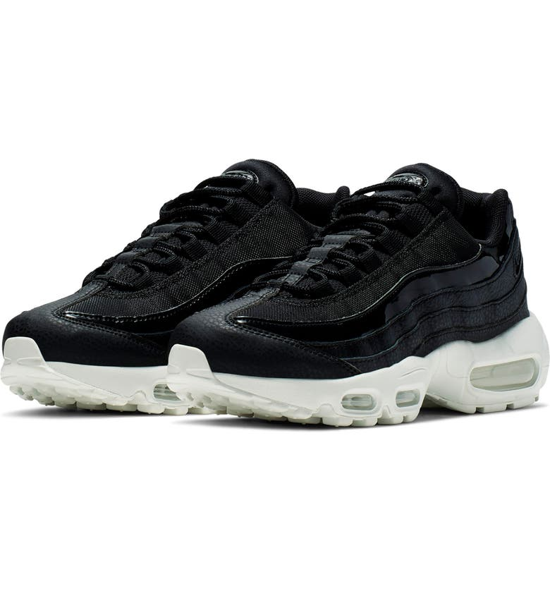 NIKE Air Max 95 SE Running Shoe, Main, color, BLACK/ WHITE/ PLATINUM