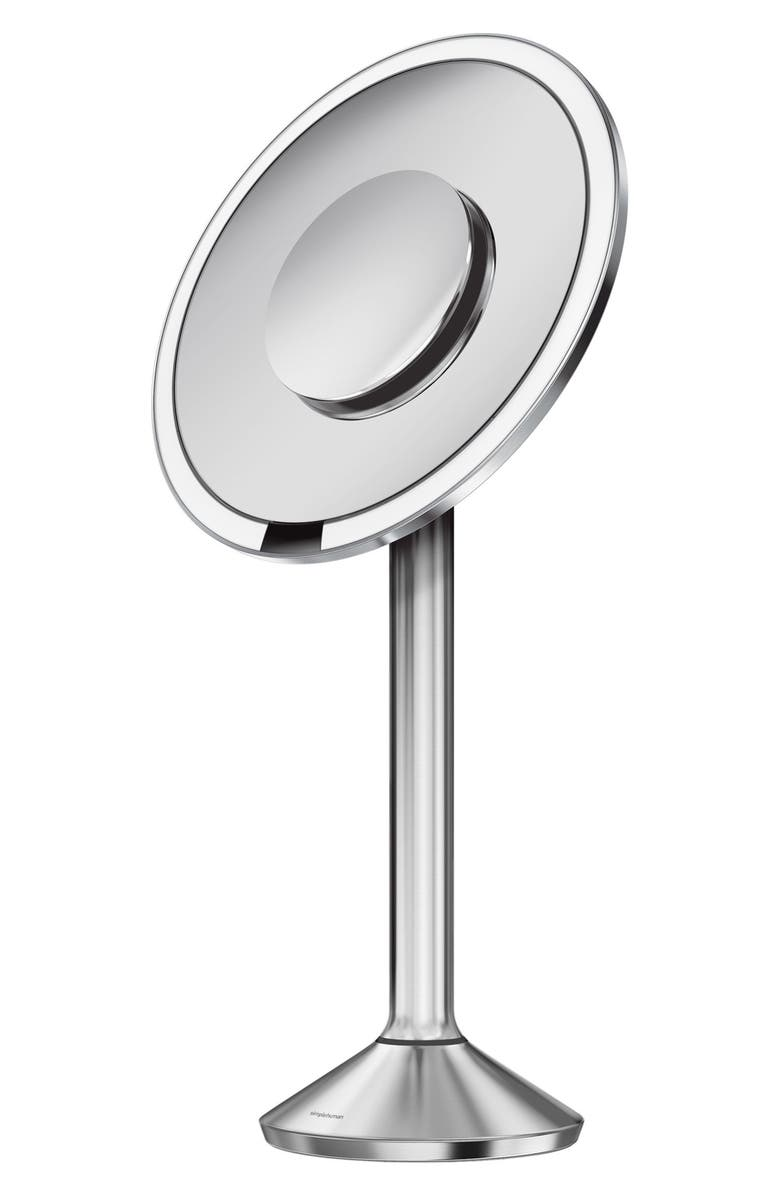 SIMPLEHUMAN 8 Inch Round Sensor Makeup Mirror Pro, Main, color, STAINLESS STEEL