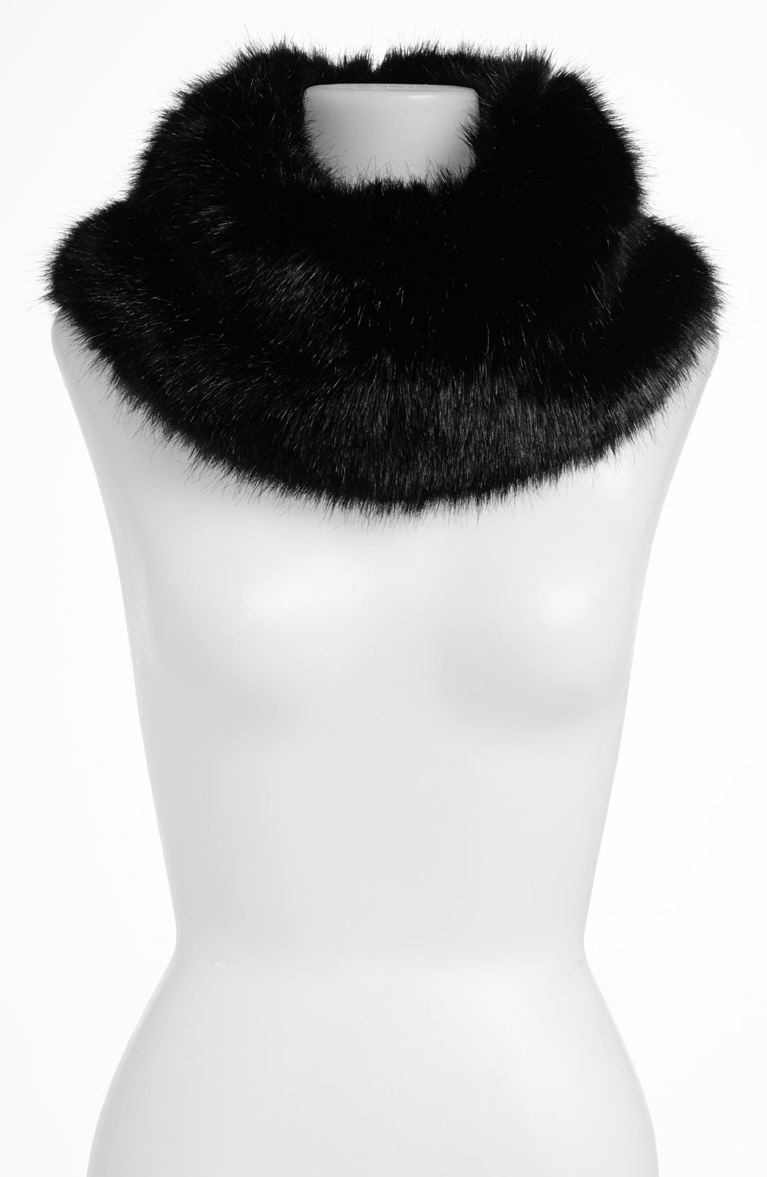 ,                             Faux Fur Collar,                             Main thumbnail 1, color,                             001