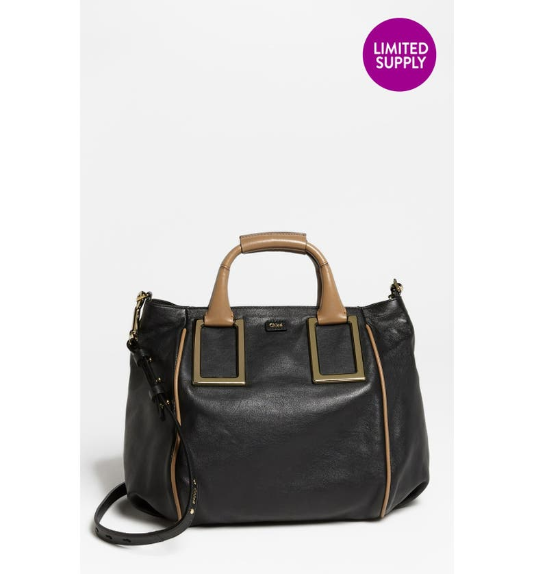 CHLOÉ 'Ethel - Medium' Leather Tote, Main, color, 001