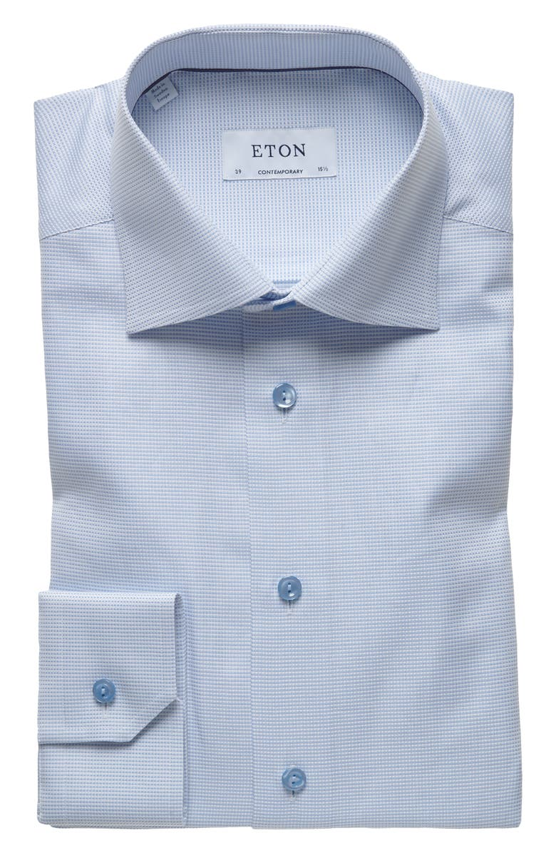 ETON Contemporary Fit Solid Dress Shirt, Main, color, 400