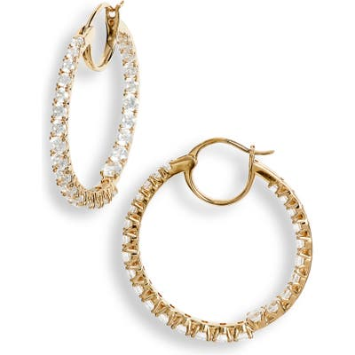 Nadri Evie Inside-Out Hoop Earrings