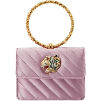 Gucci Broadway Quilted Ring Top Handle Bag - Pink