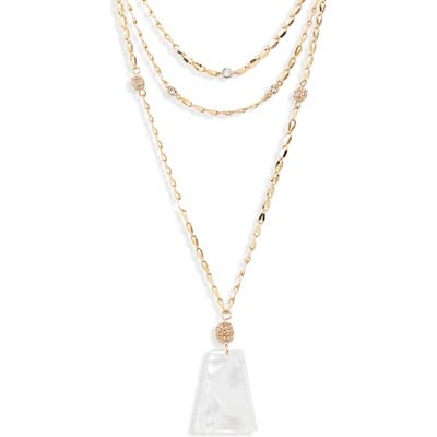 Ettika Multistrand Pendant Necklace