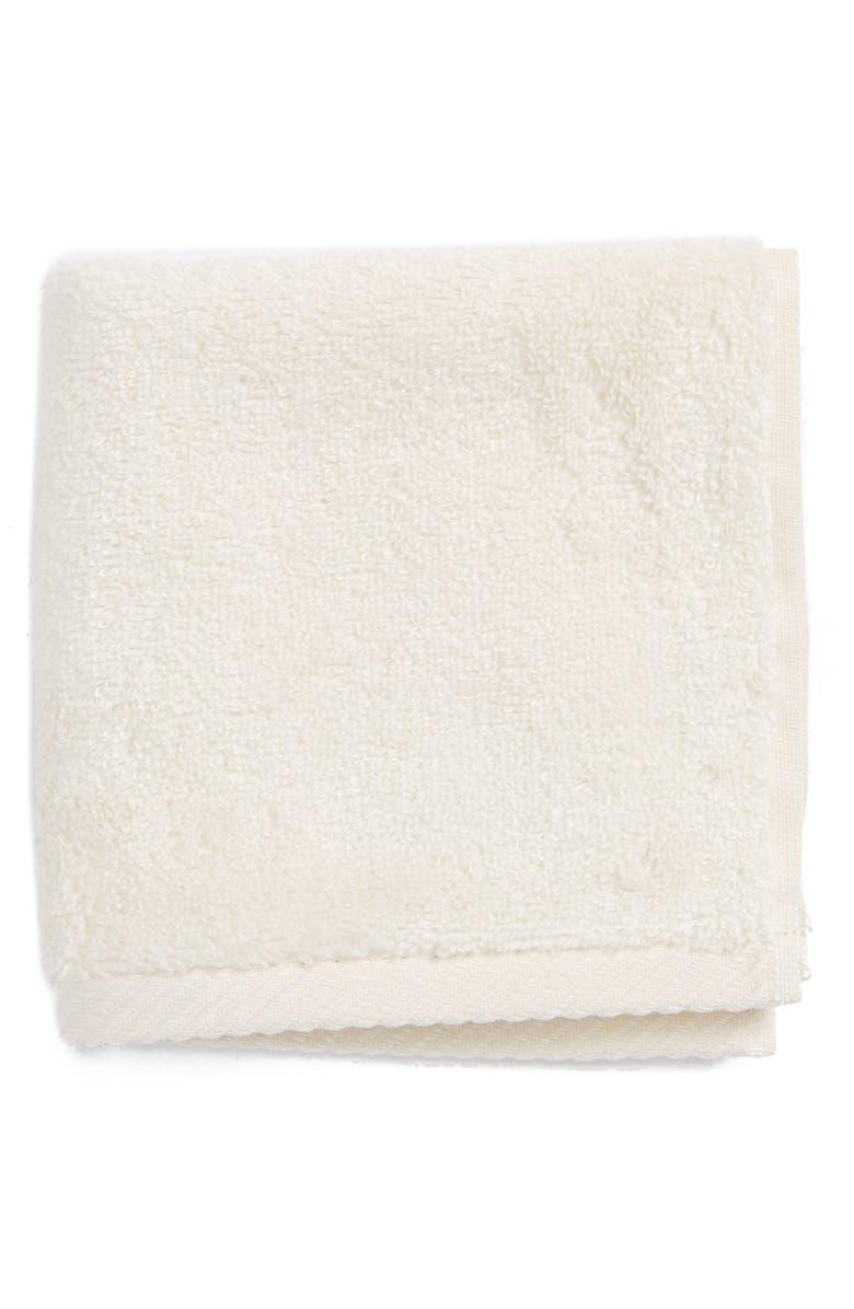 MATOUK Milagro Washcloth, Main, color, IVORY