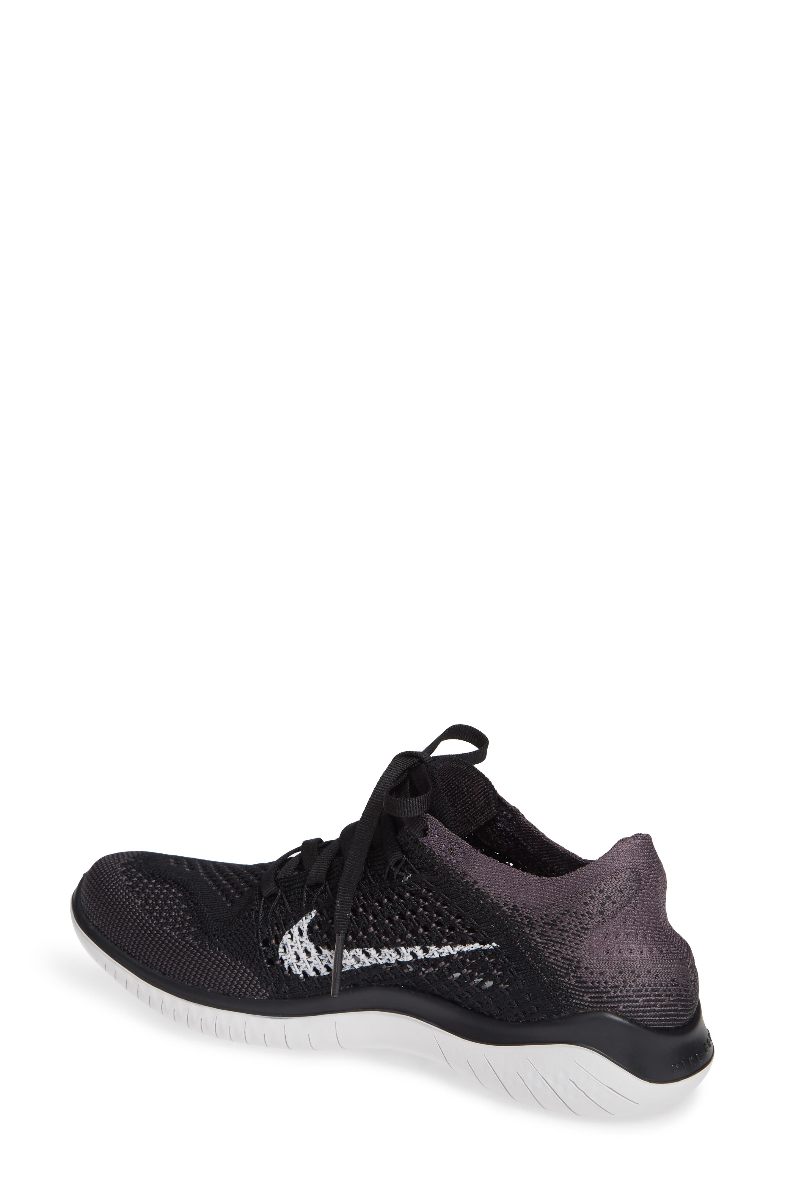 ,                             Free RN Flyknit 2018 Running Shoe,                             Alternate thumbnail 2, color,                             BLACK/ VAST GREY/ GOLD