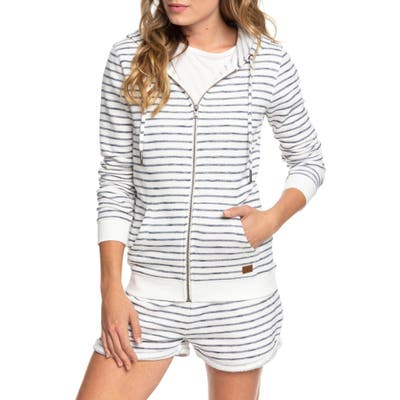 Roxy Trippin Stripes Front Zip Pullover, Blue