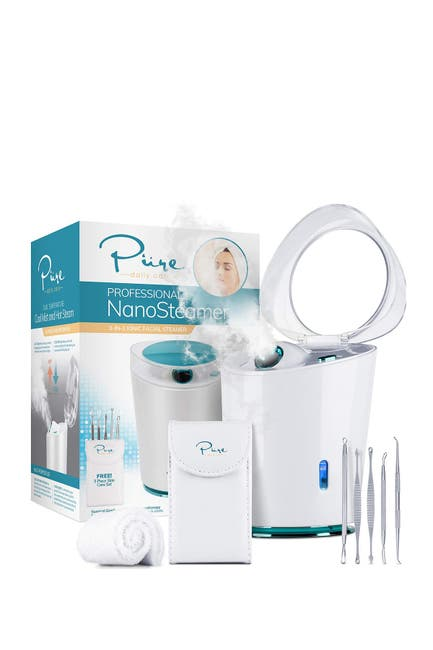 Image of PURE DAILY CARE NanoSteamer Pro 4-in-1 Nano Ionic Facial Steamer with Cool Mist & Aromatherapy