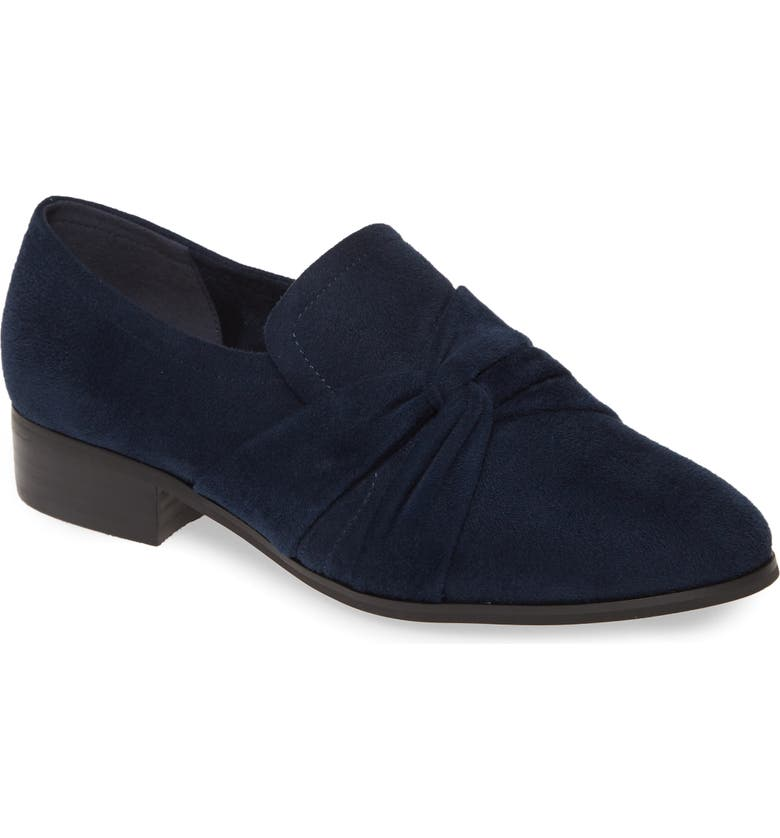 BELLA VITA Billie II Loafer, Main, color, NAVY FAUX LEATHER