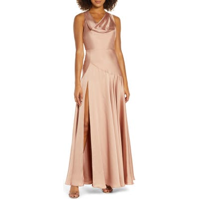 Fame And Partners The Alice Evening Gown, Beige