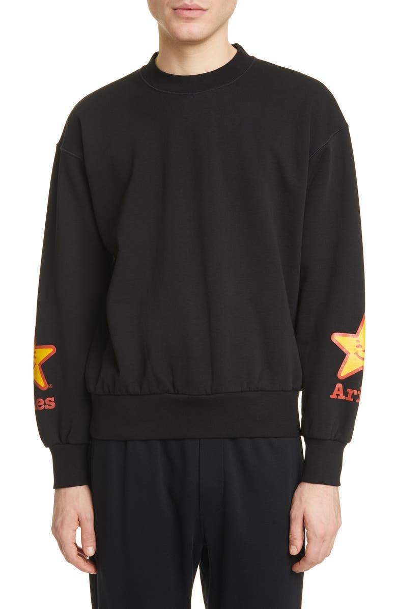 ARIES Fast Food Graphic Sweatshirt, Main, color, BLACK
