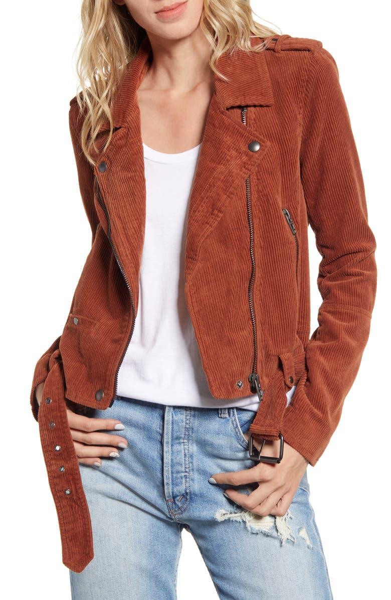 BLANKNYC Corduroy Moto Jacket, Main, color, ATLAS