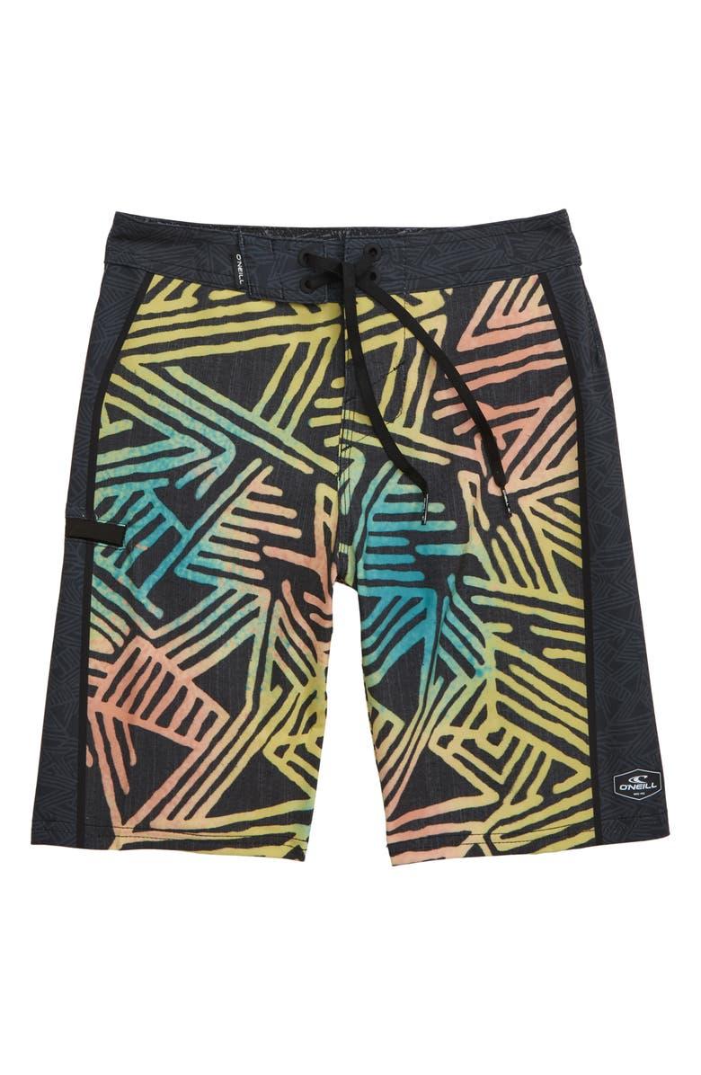 O'NEILL Hyperfreak Jordy Board Shorts, Main, color, 001