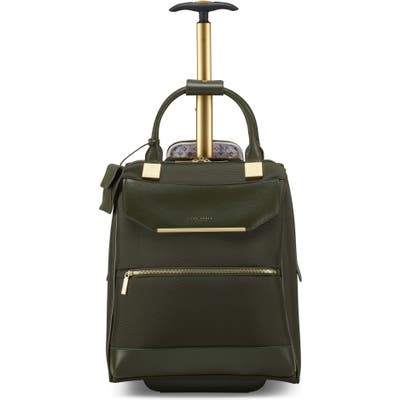 Ted Baker London Albany Softside Rolling Travel Bag - Green