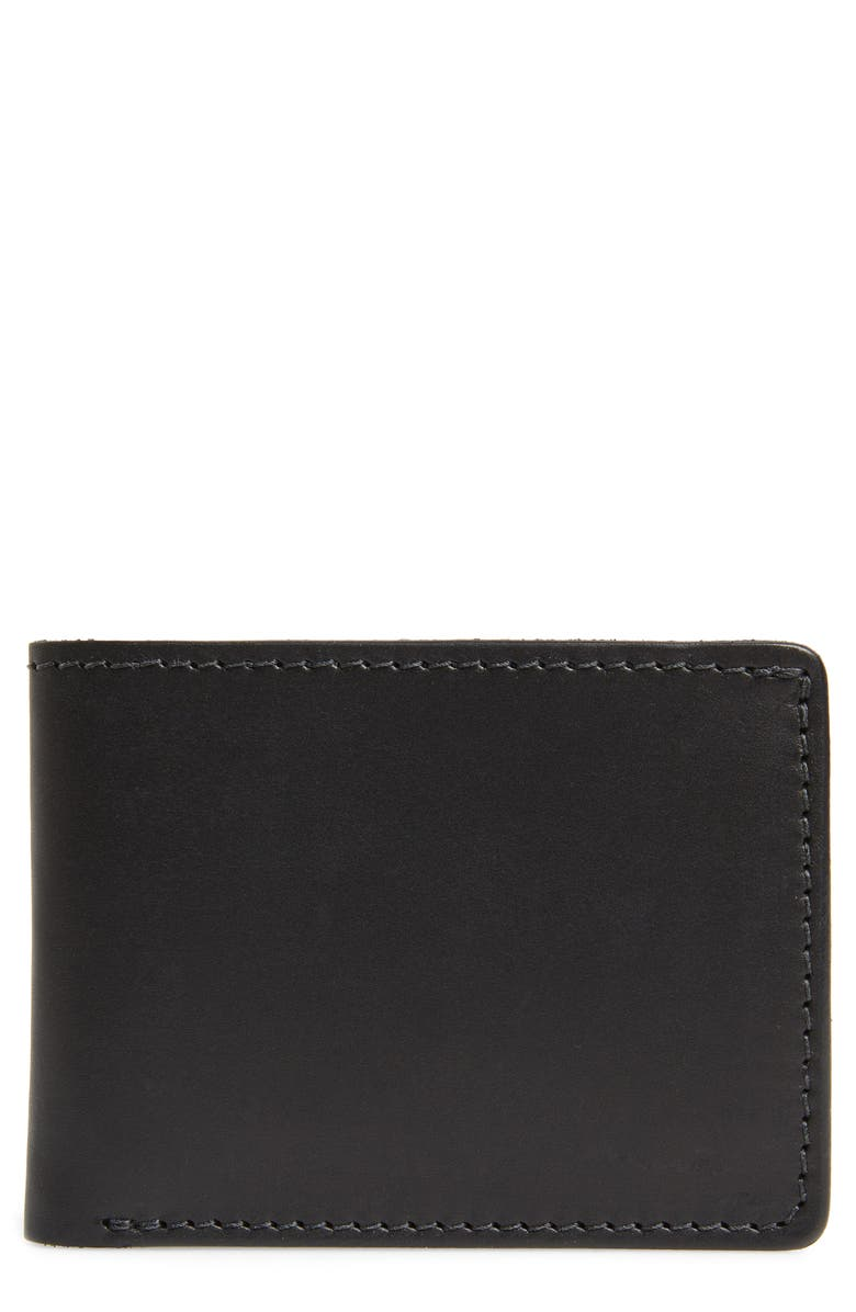 TANNER GOODS Utility Leather Bifold Wallet, Main, color, 001