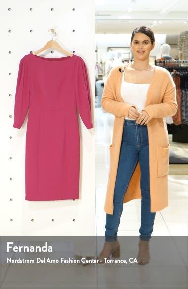 Pleated Sleeve Sheath Dress, sales video thumbnail