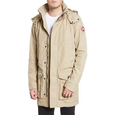 Canada Goose Crew Trench Jacket With Removable Hood, Beige