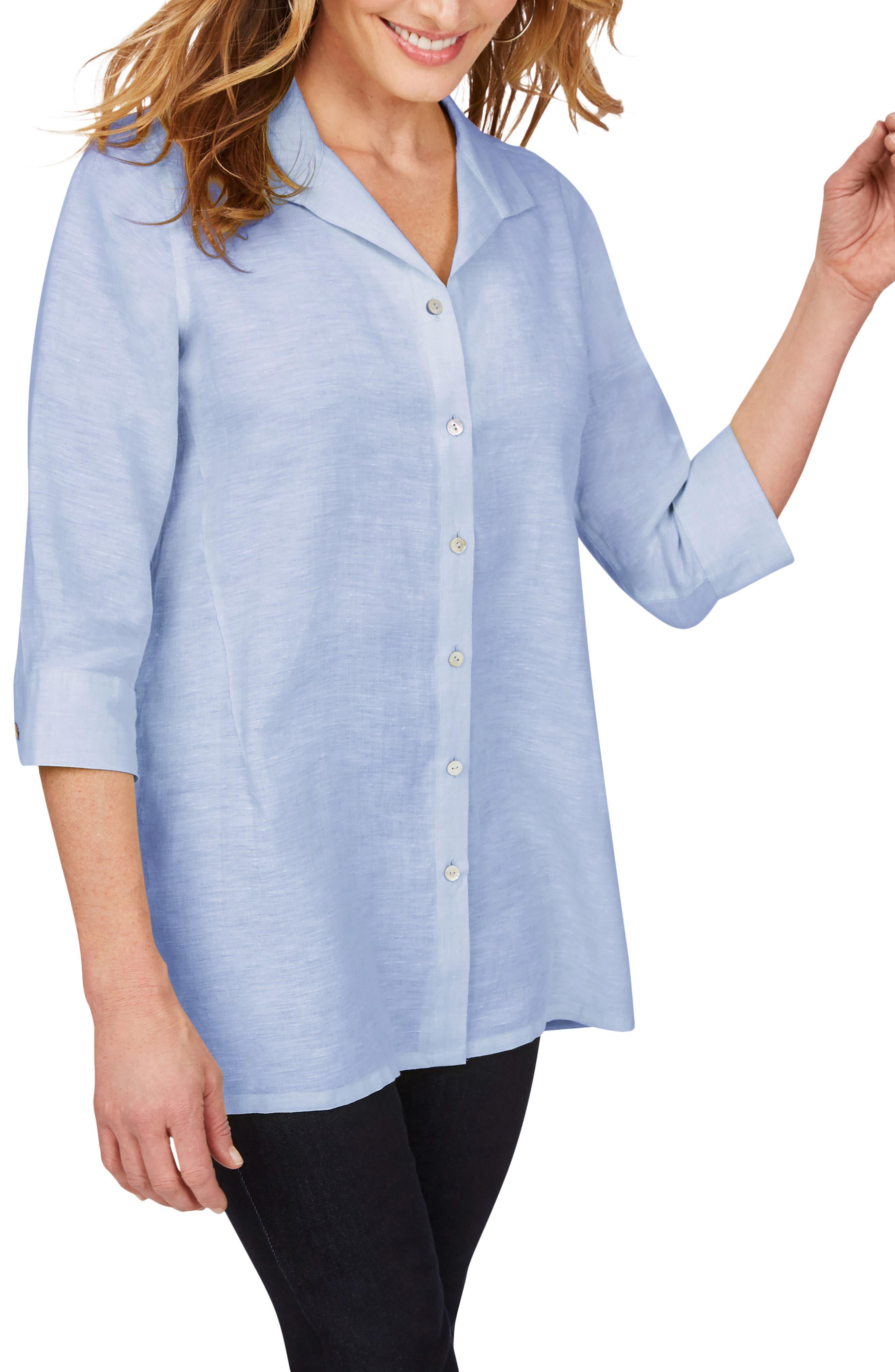 Sterling Button Front Non-Iron Linen Shirt