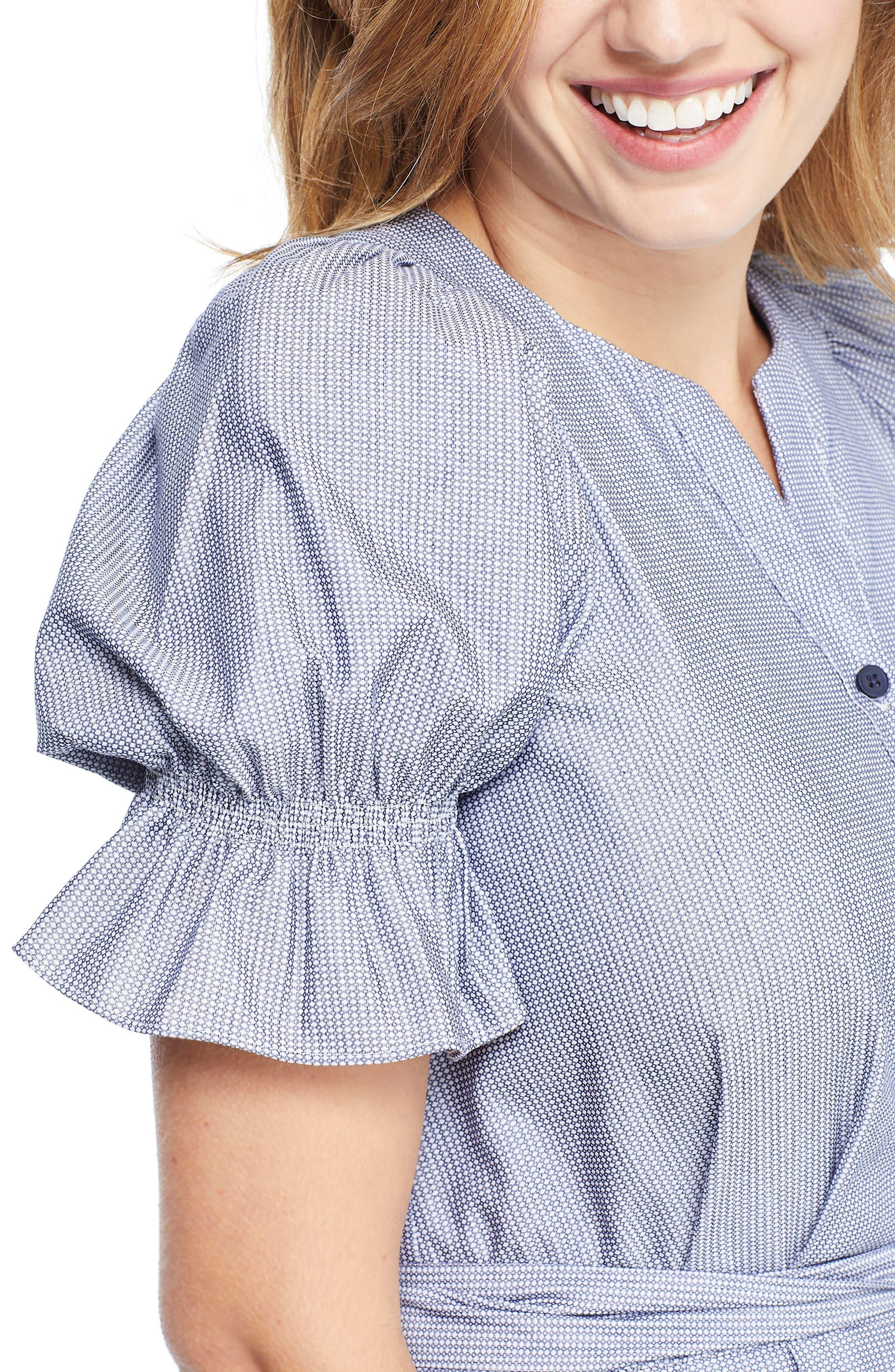 ,                             Daisy Cotton Dobby Shirtdress,                             Alternate thumbnail 4, color,                             425