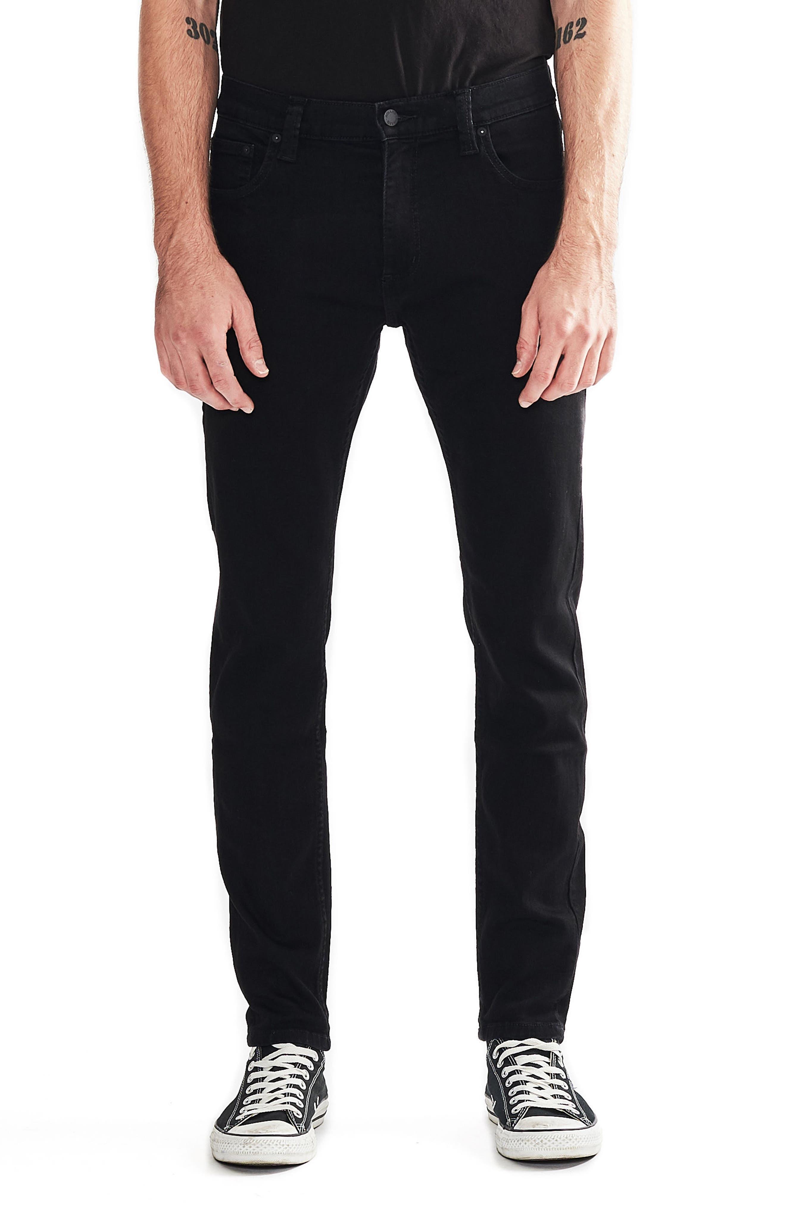 ,                             Stinger Skinny Fit Jeans,                             Main thumbnail 1, color,                             BLACK GOLD
