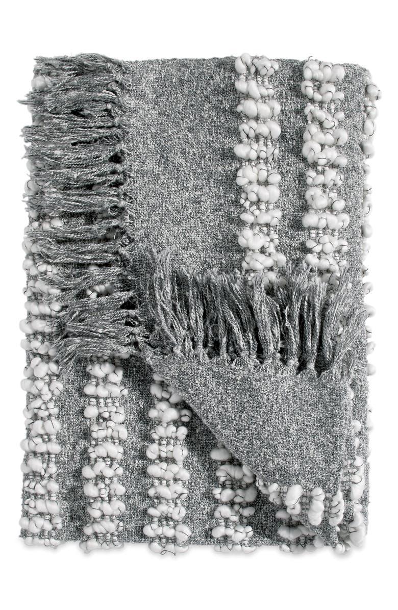 DKNY Pure Bobble Throw Blanket, Main, color, GREY