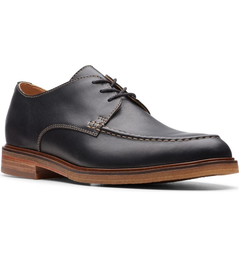 CLARKS<SUP>®</SUP> Clarkdale Apron Toe Derby, Main, color, BLACK LEATHER