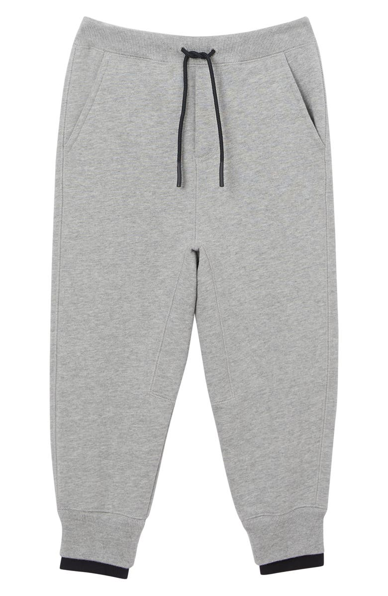 BURBERRY Fabbio Sweatpants, Main, color, GREY MELANGE