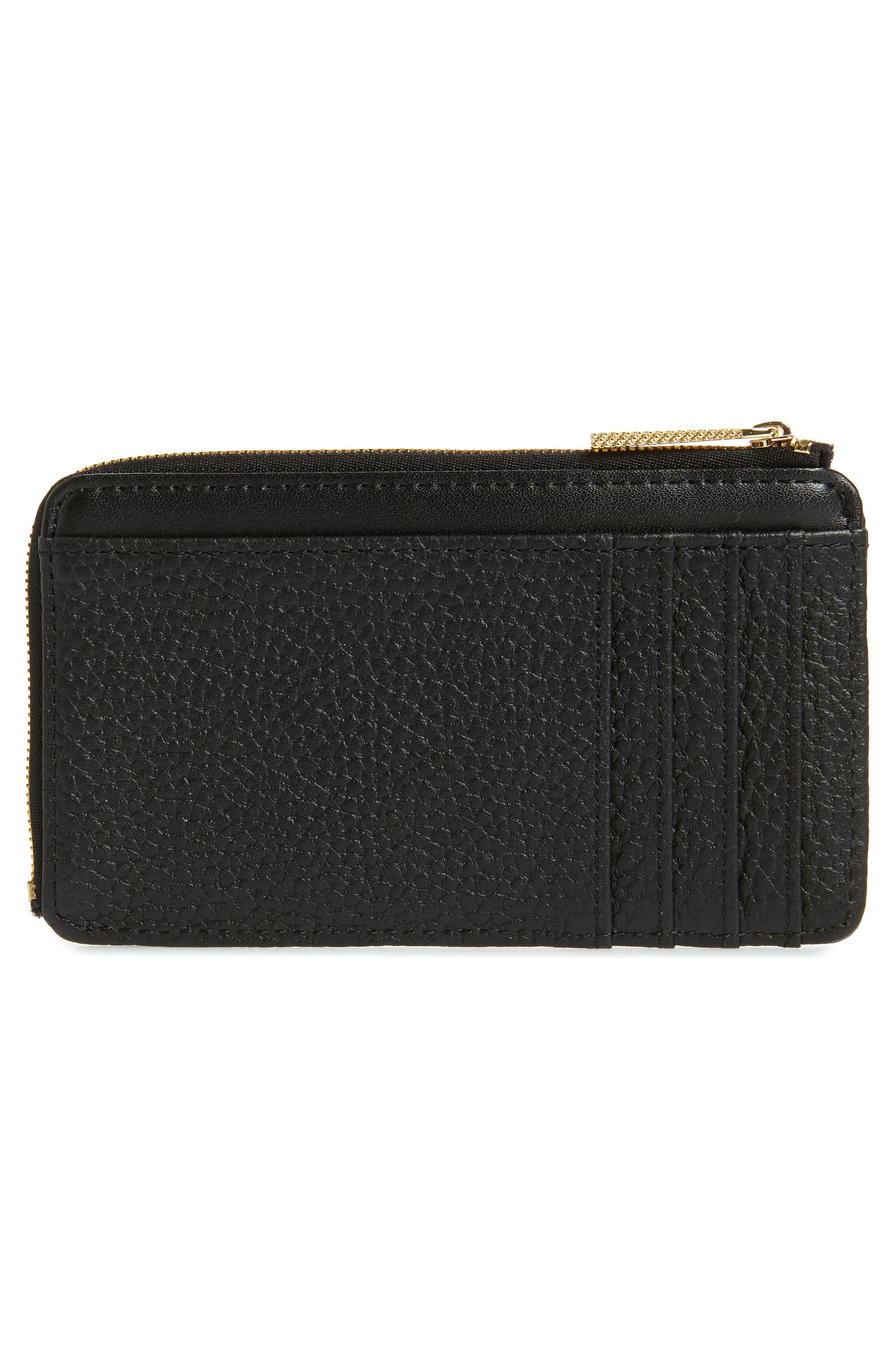 ,                             Lotta Bow Leather Card Case,                             Alternate thumbnail 2, color,                             001
