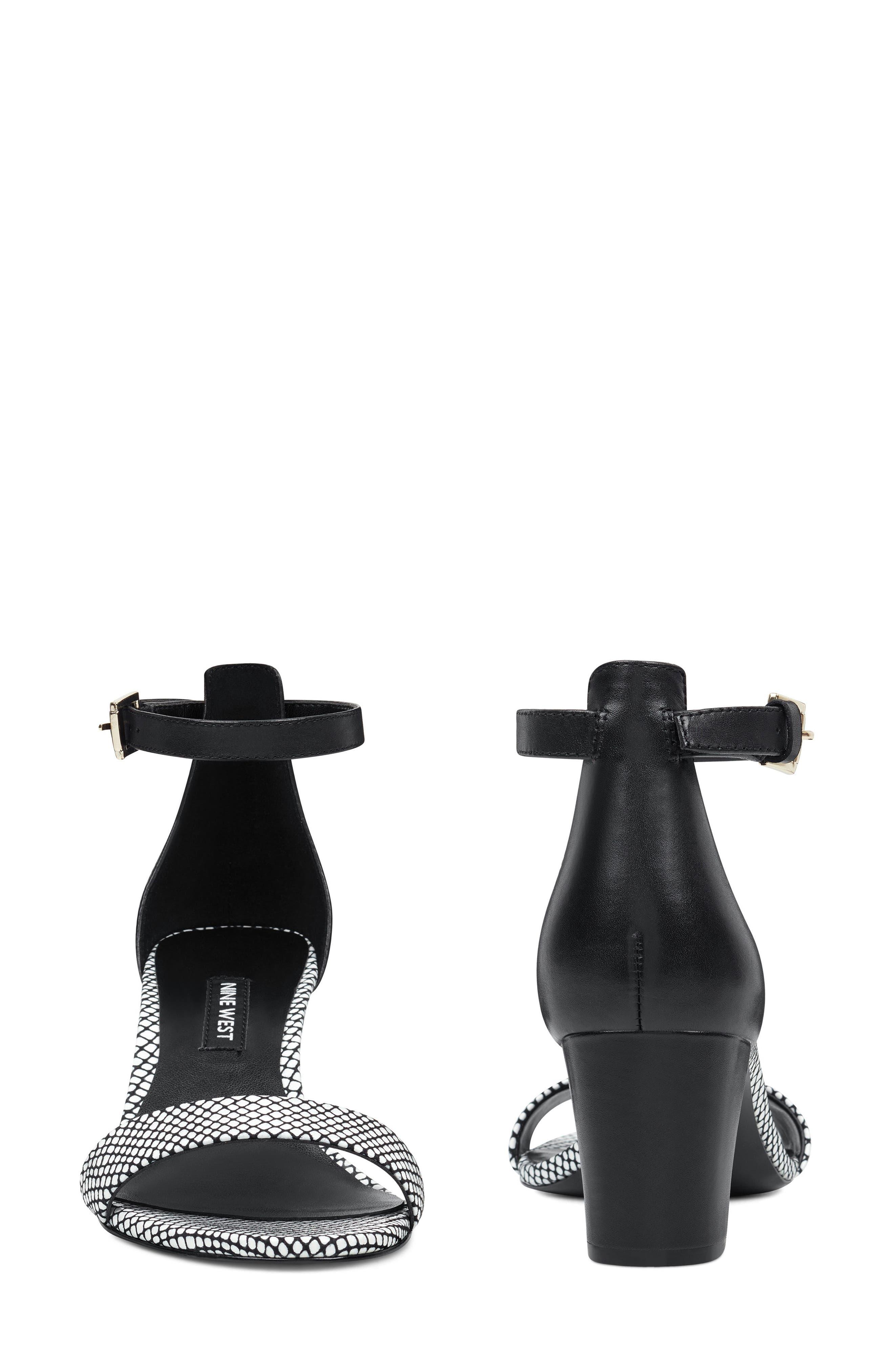 ,                             Pruce Ankle Strap Sandal,                             Alternate thumbnail 10, color,                             BLACK/ WHITE LEATHER