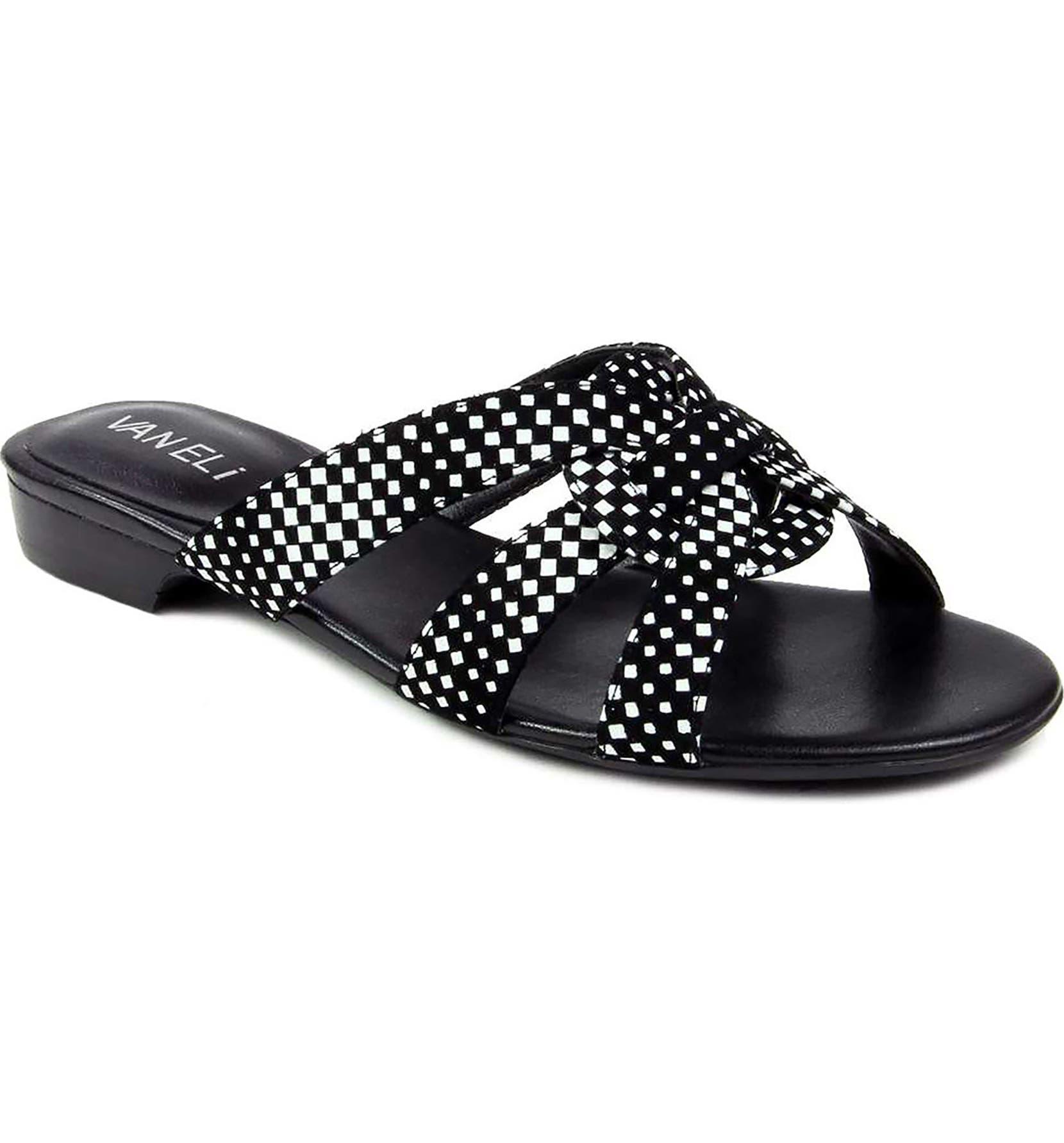9ab01722c VANELi Broska Check Slide Sandal (Women)   Nordstrom