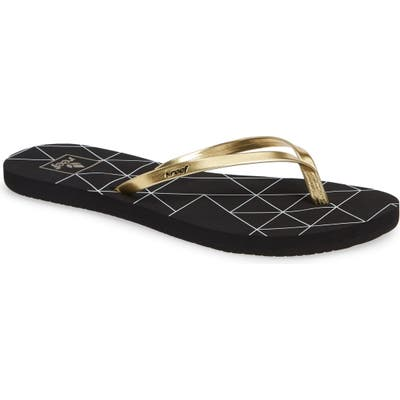 Reef Bliss-Full Flip Flop, Black