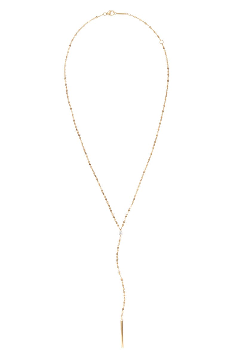LANA JEWELRY Pear Diamond Y-Necklace, Main, color, 710