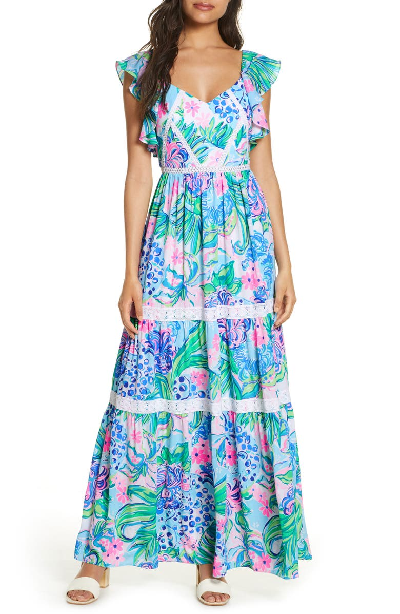 LILLY PULITZER<SUP>®</SUP> Ivie Maxi Dress, Main, color, 440