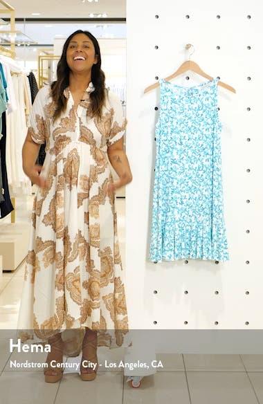 Coral Cabana Sleeveless Cover-Up Dress, sales video thumbnail