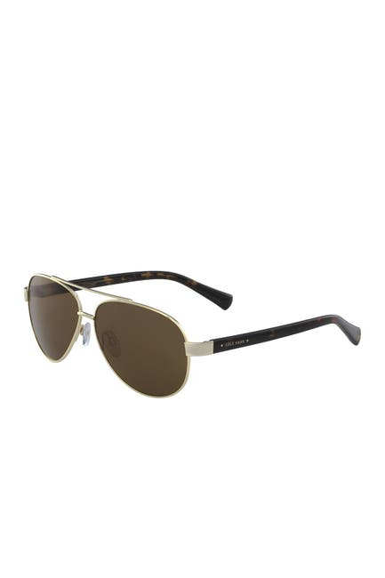 Image of Cole Haan 60mm Aviator Sunglasses