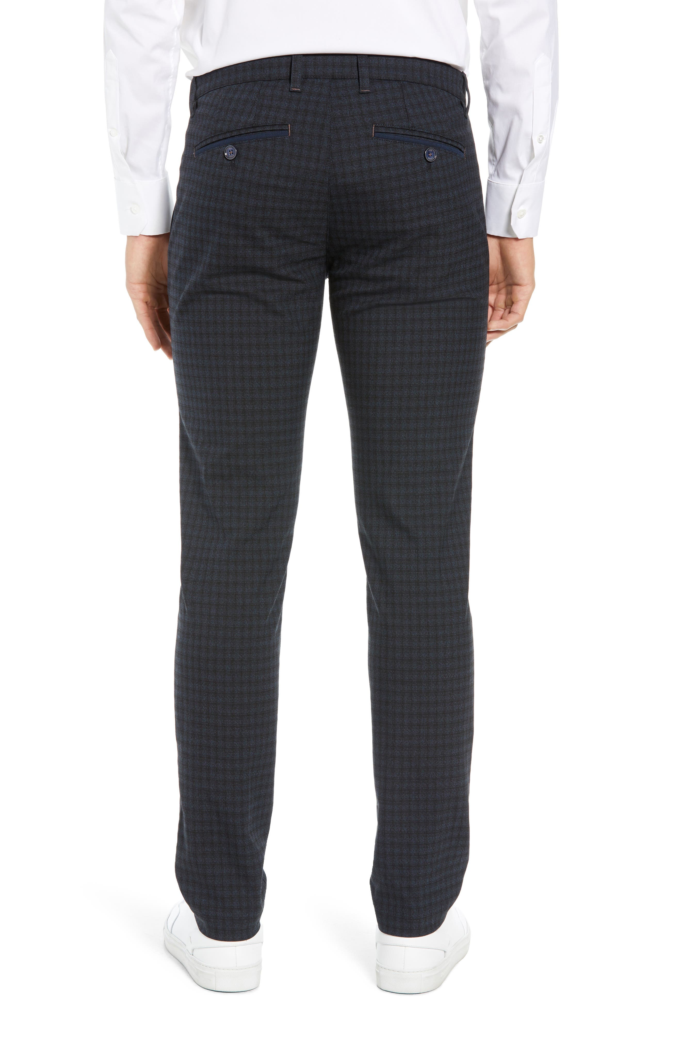 ,                             Portula Slim Fit Check Trousers,                             Alternate thumbnail 9, color,                             410