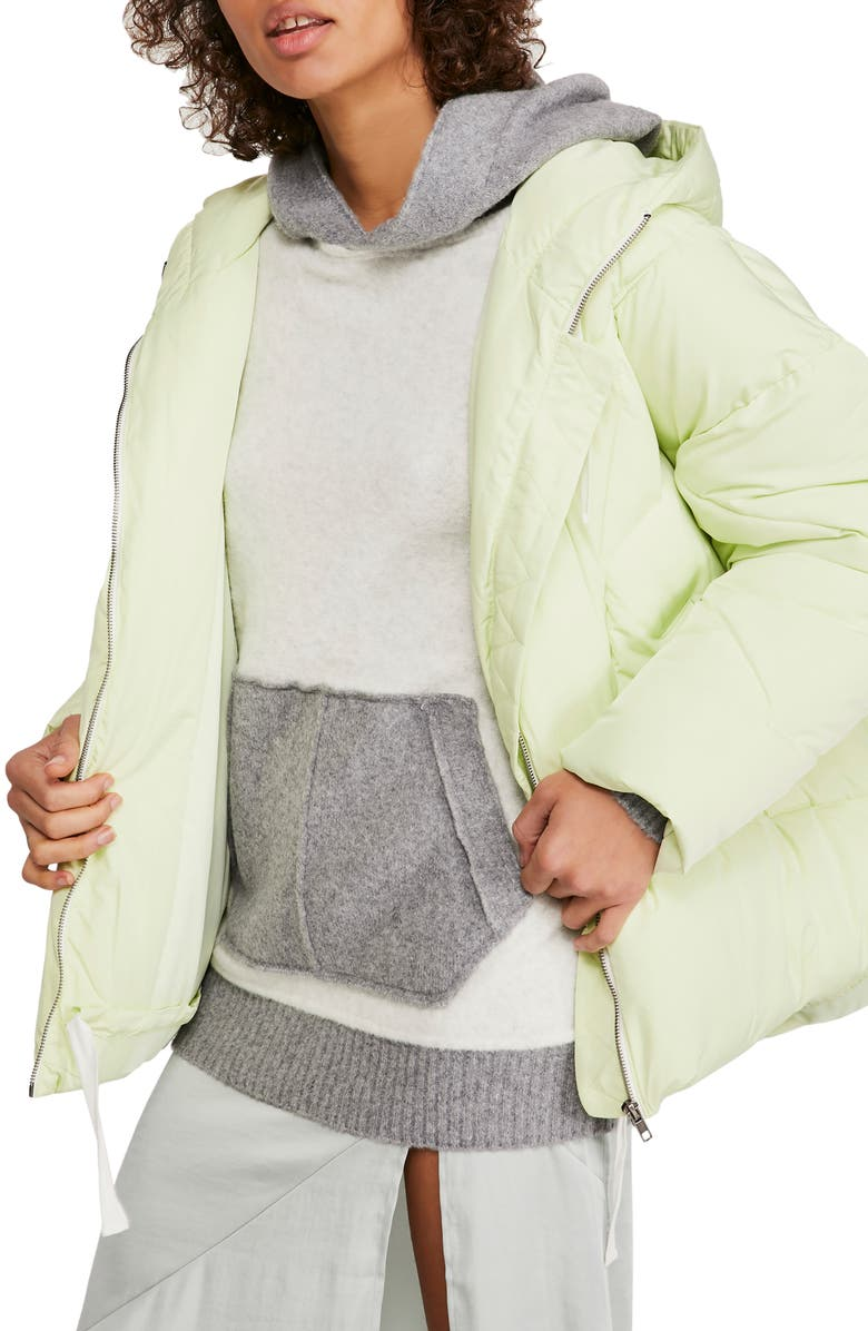 FREE PEOPLE Hailey Hooded Puffer Jacket, Main, color, MINT