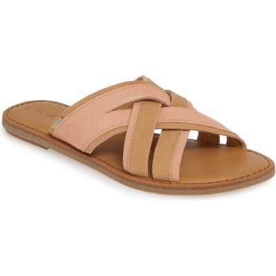 Toms Val Slide Sandal, Coral