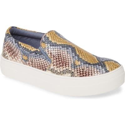 Steve Madden Gills Platform Slip-On Sneaker, Brown