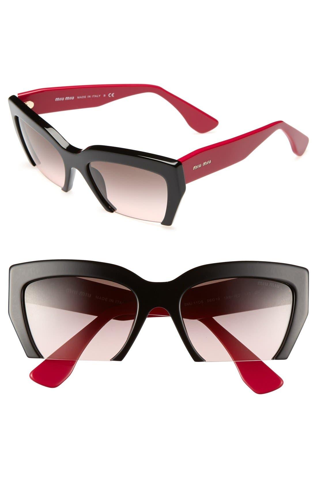 ,                             56mm Sunglasses,                             Main thumbnail 2, color,                             002