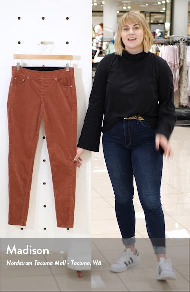 Maya Pull-On Skinny Velvet Pants, sales video thumbnail