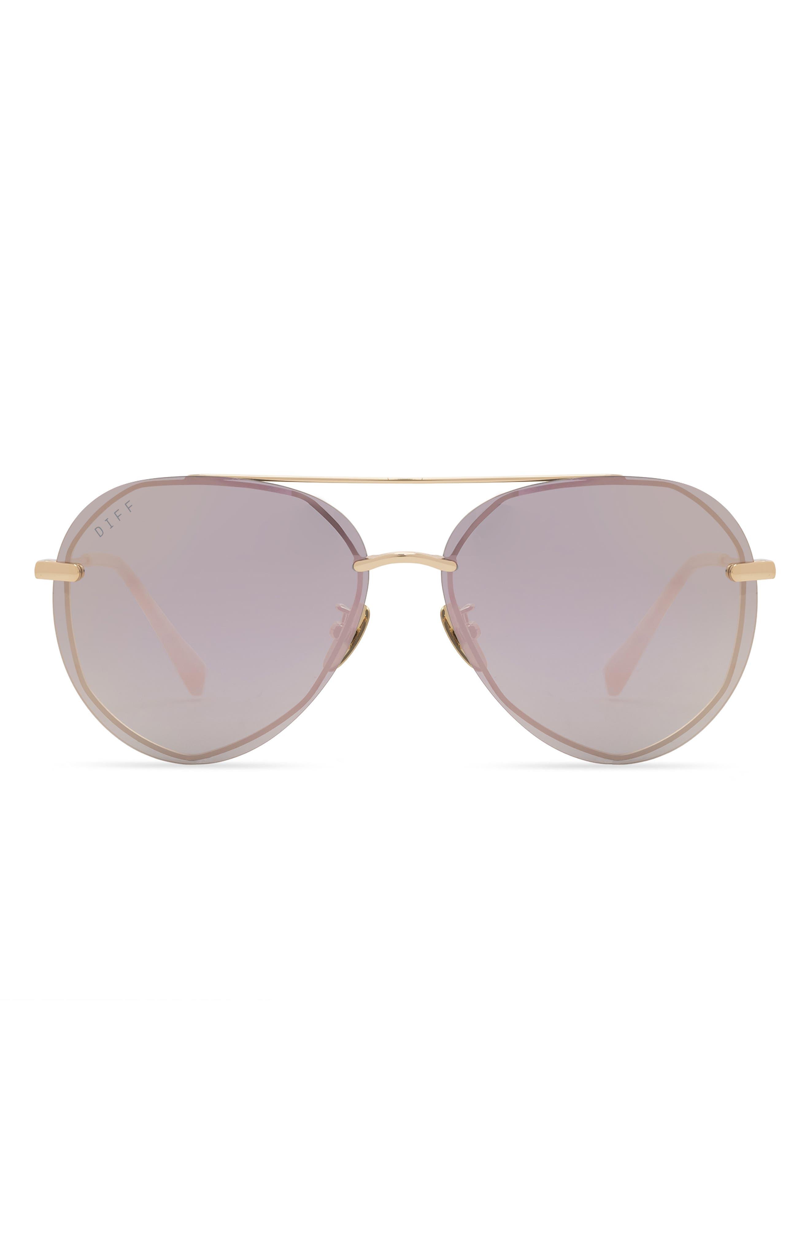 Lenox 62mm Oversize Polarized Aviator Sunglasses