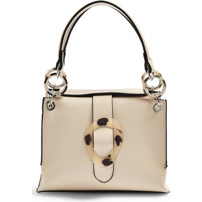 Topshop Storm Buckle Shoulder Handbag - Ivory