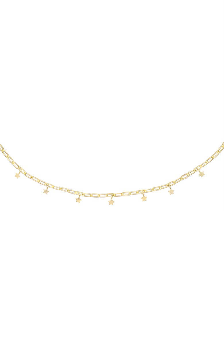 ADINA'S JEWELS Mini Star Link Choker Necklace, Main, color, GOLD