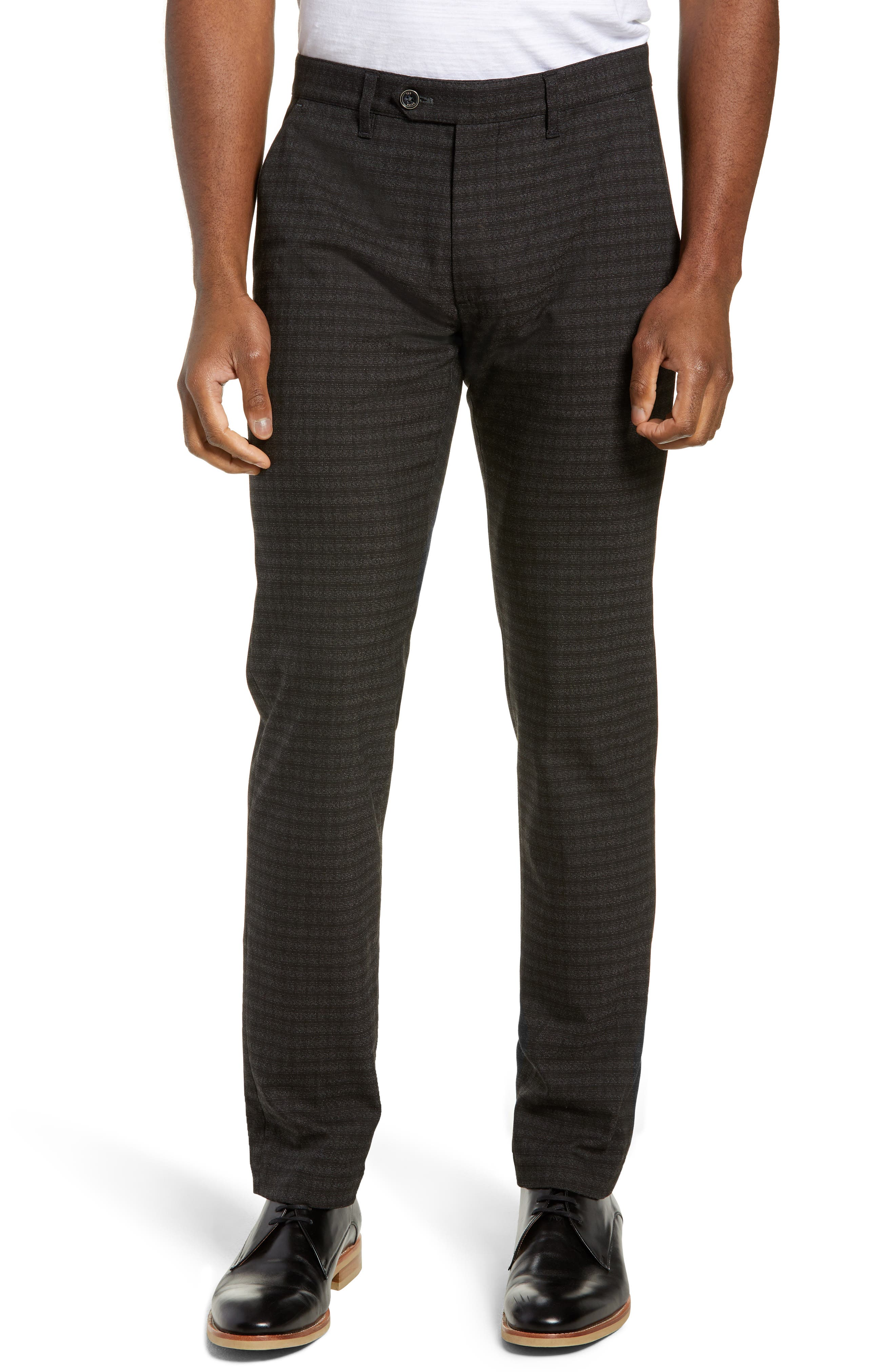 Portula Slim Fit Check Trousers, Main, color, 030