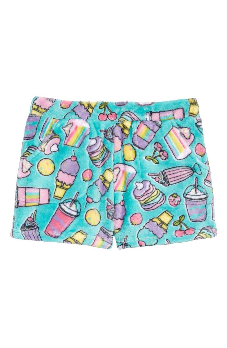 CANDY PINK Rainbow Food Sleep Shorts, Main, color, 330