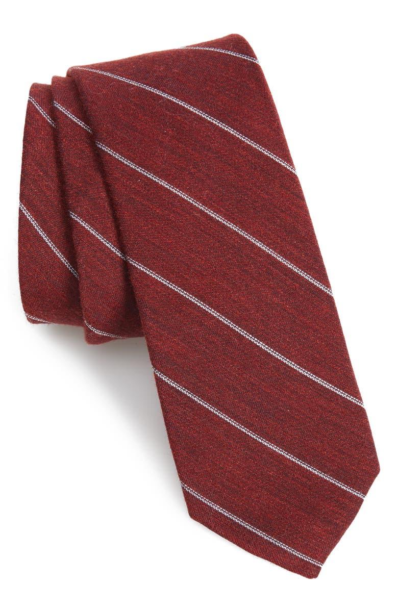 1901 Preston Stripe Silk Blend Tie, Main, color, RED