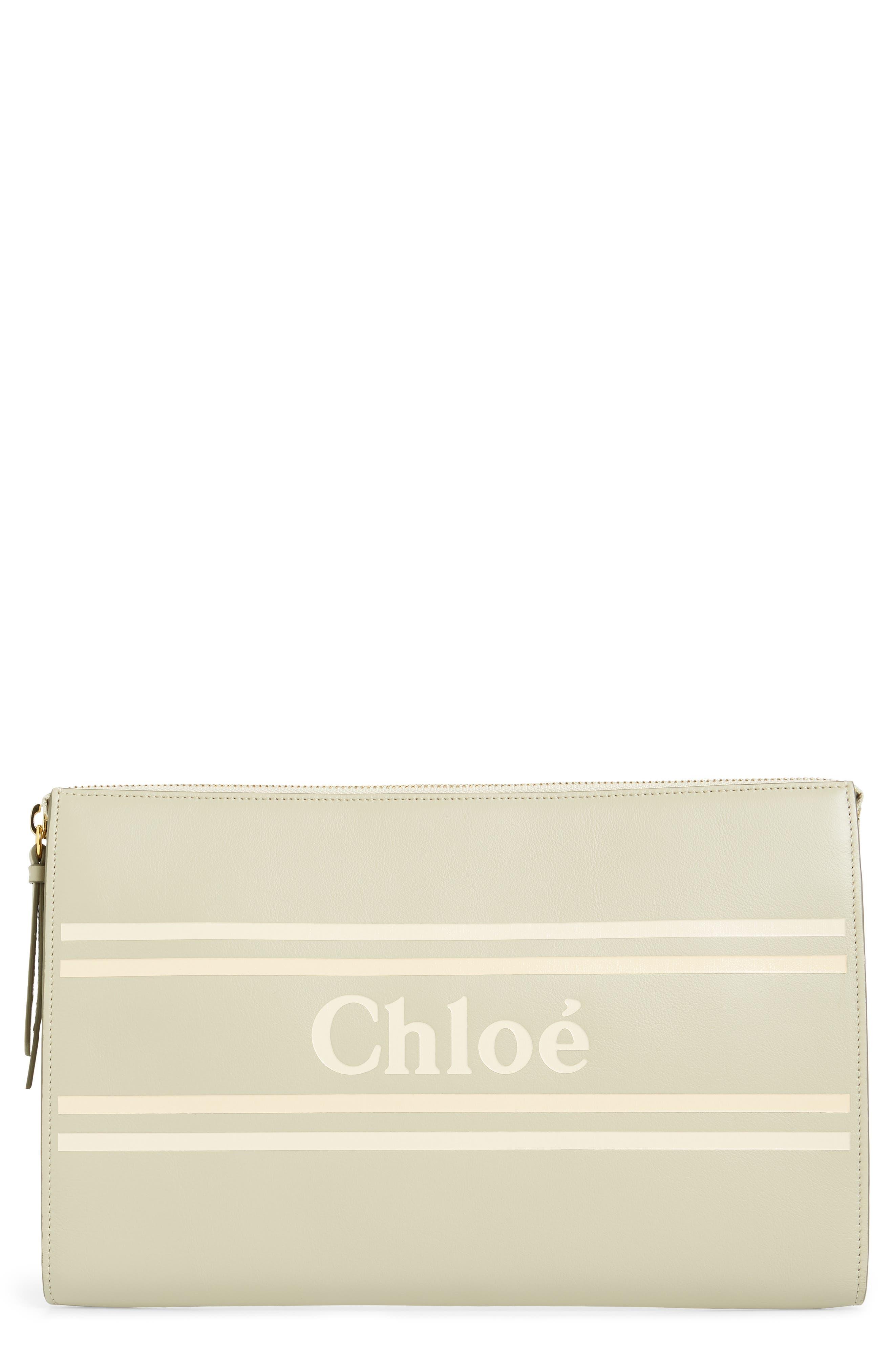 Chloé Clutch Vick Leather Zip Pouch