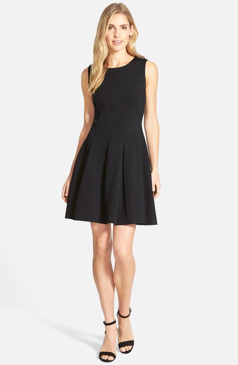 HALOGEN<SUP>®</SUP> Ponte Fit & Flare Dress, Main, color, 001