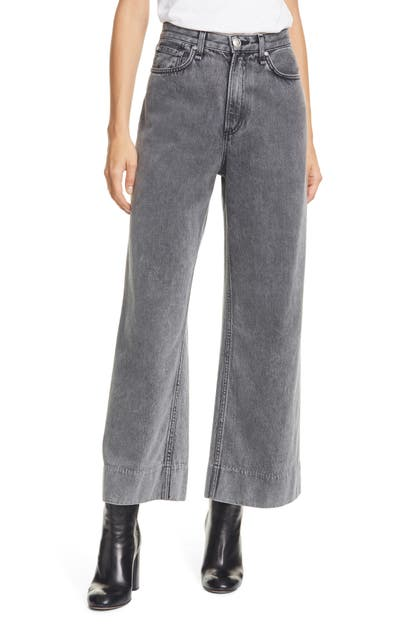 Rag & Bone Ruth Super High Waist Wide Leg Jeans In Avro